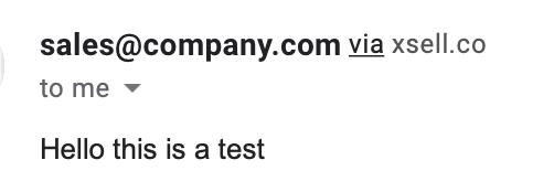 Email address via eDesk