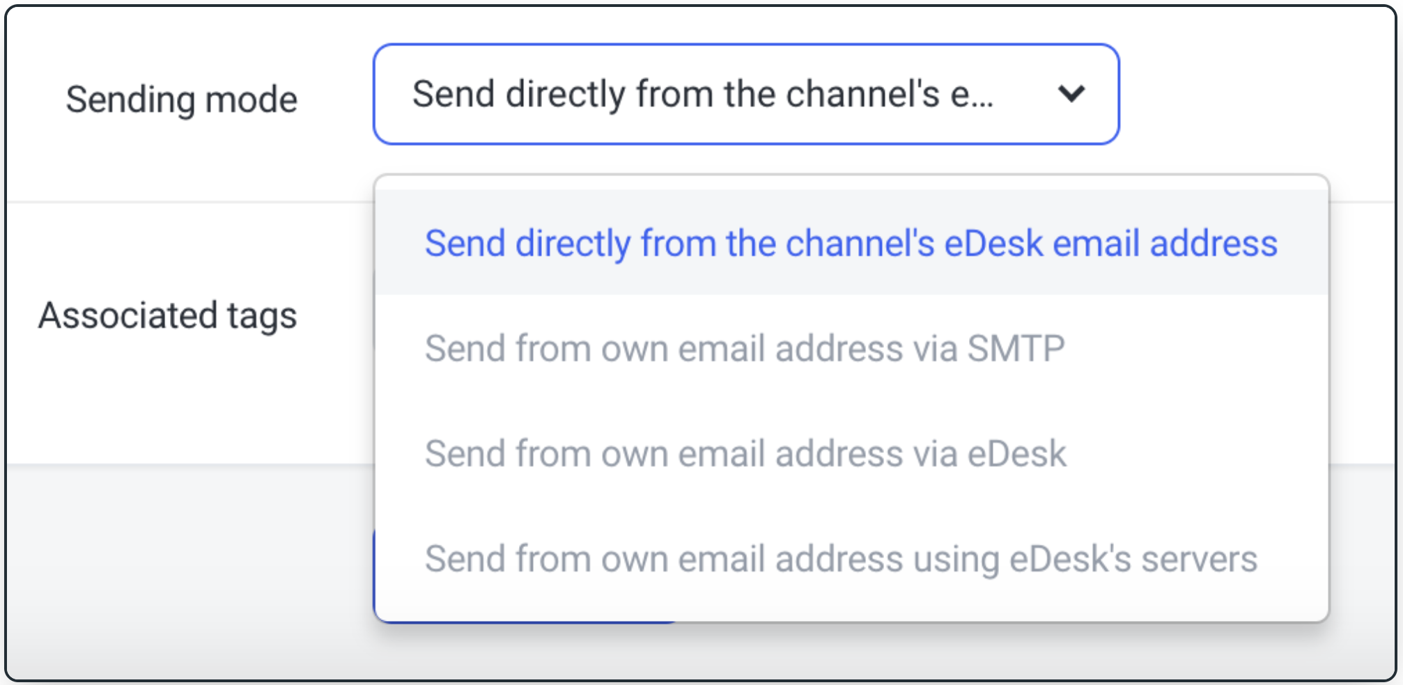 Select your preferred Sending Mode