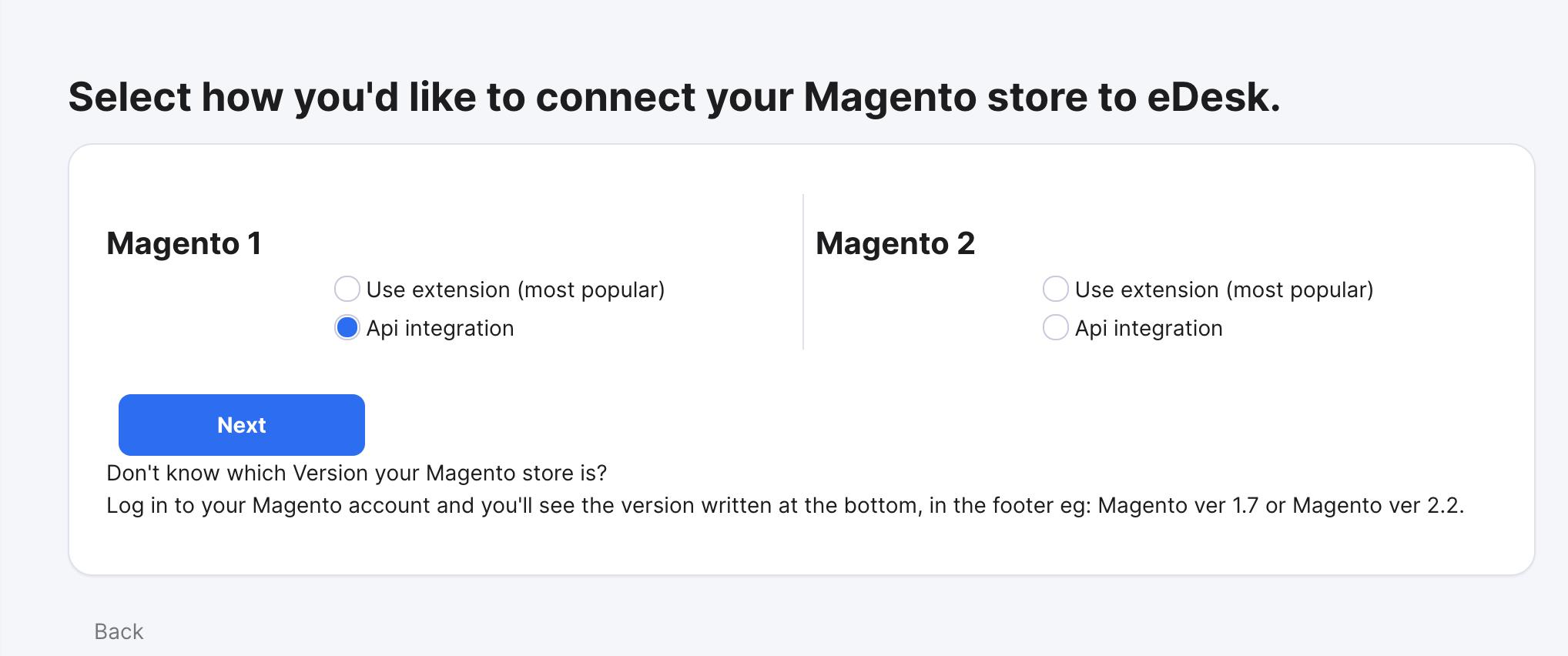 Select API Integration for Magento 1