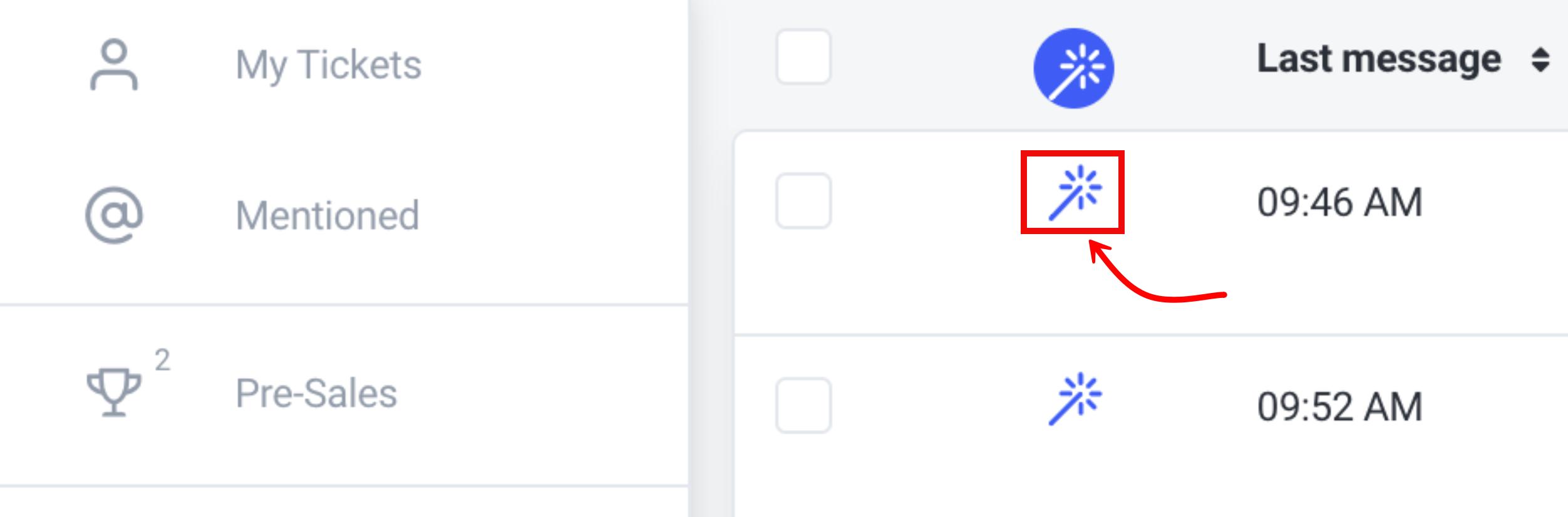 Magic button in the Mailbox