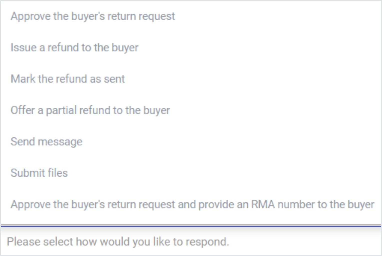 Options for Return cases