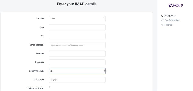 Yahoo IMAP
