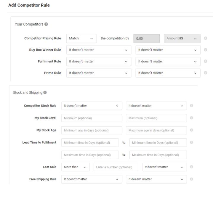 Add Competitor Rule