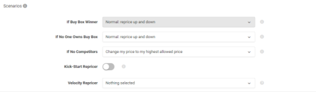 seller settings repricer